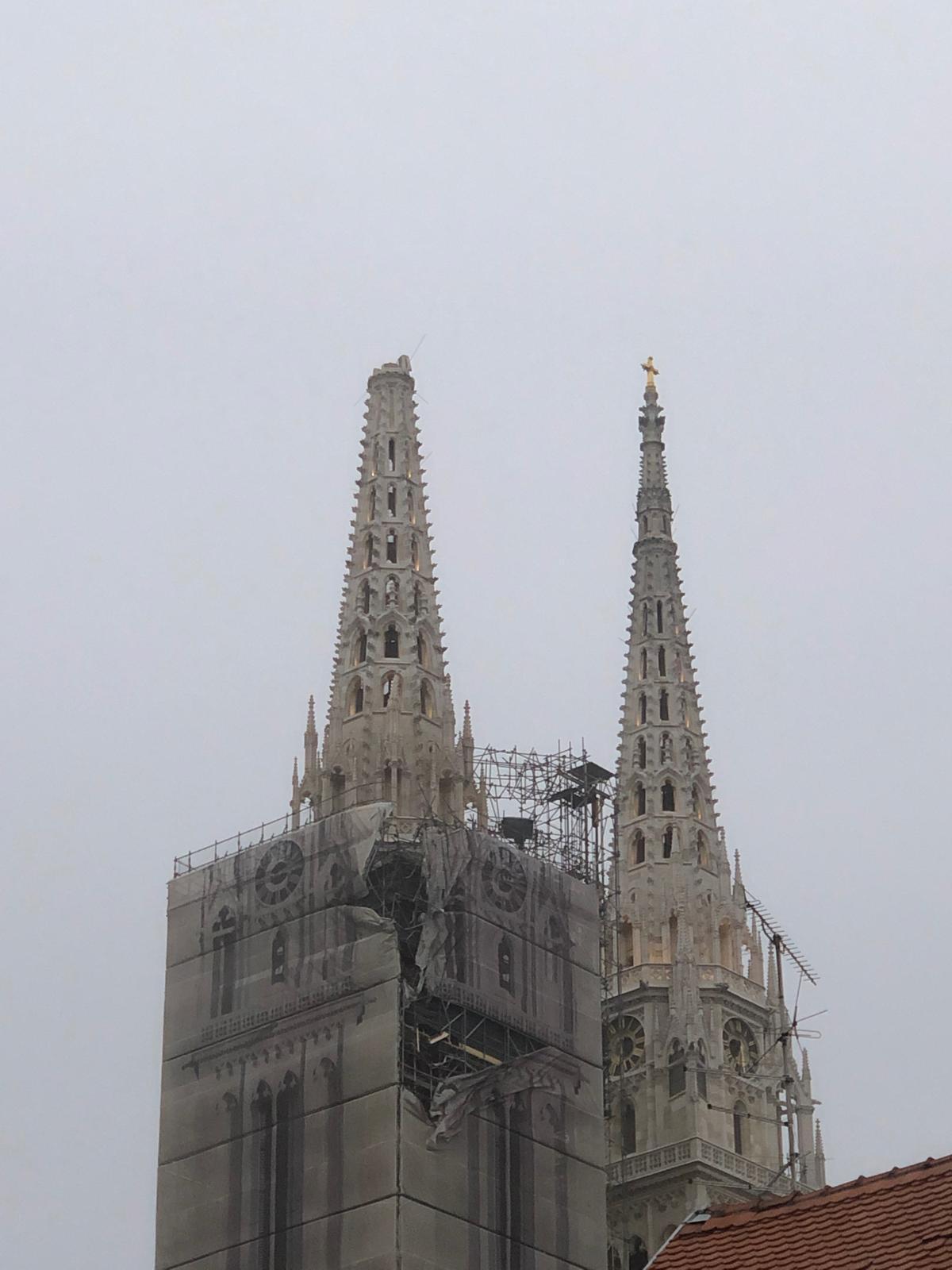 Catedral Zagreb dañada por el terremoto