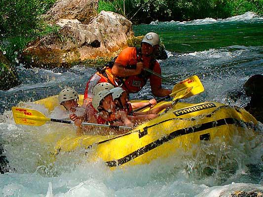 Rafting en rio cetina