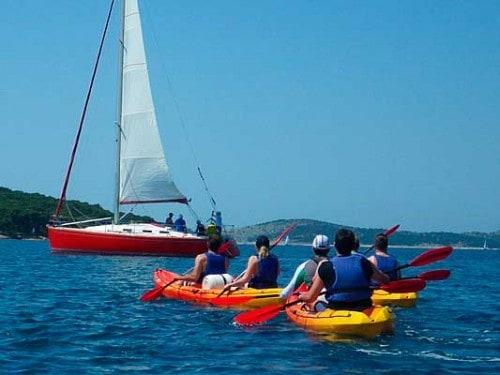 Isla Zlarin en Kayak